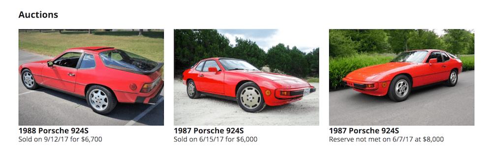 Porsche 924S on BaT