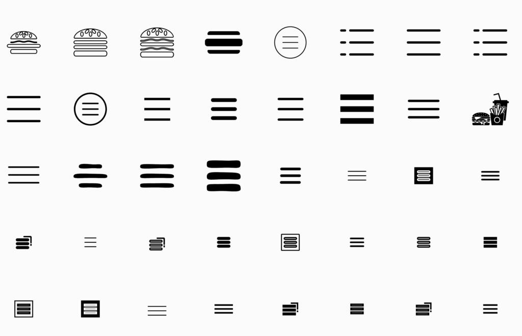 The beloved hamburger menu icon