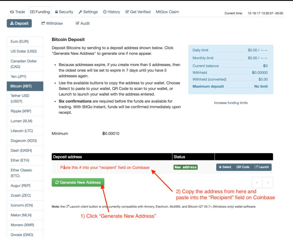Receive Bitcoin from Coinbase on Kraken