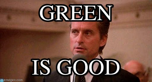 gordon gekko - green is good