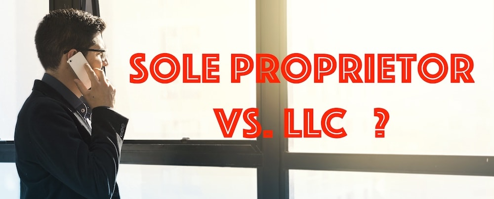 Should my online business be a sole proprietor vs LLC?