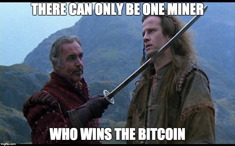There can only be one Bitcoin winner