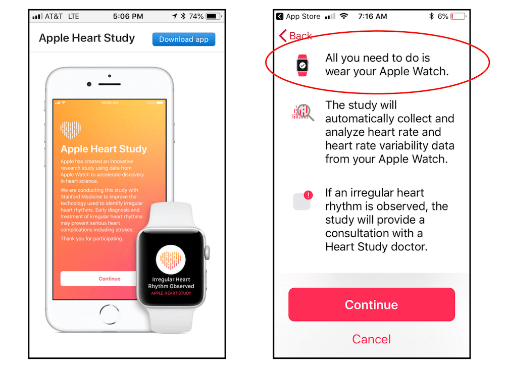 Apple Watch heart study step 1