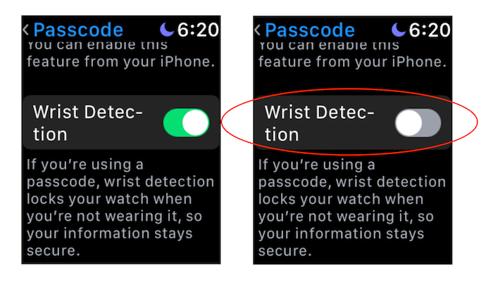 Turn off wrist detection on Apple Watch step 1